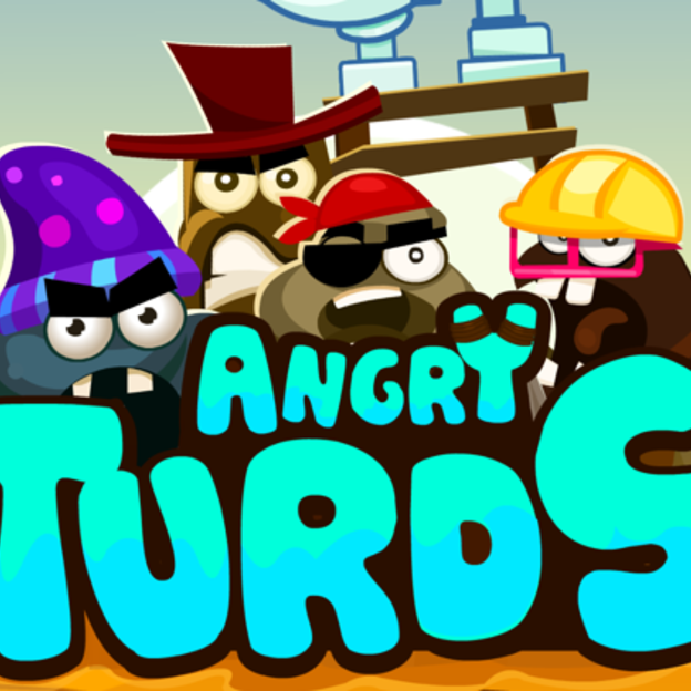 A still from our Angry Turds game
