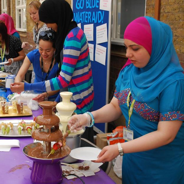 A college hold a fundraising day in aid of WaterAid