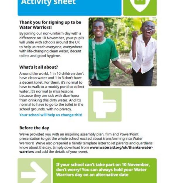 Water Warriors Activity Sheet