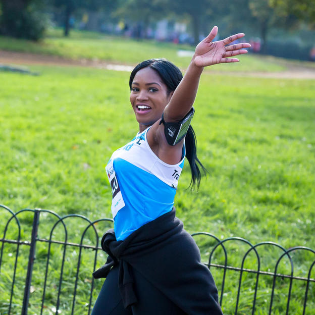 Runner takes part in the Royal Parks Half Marathon, London, October 2015.