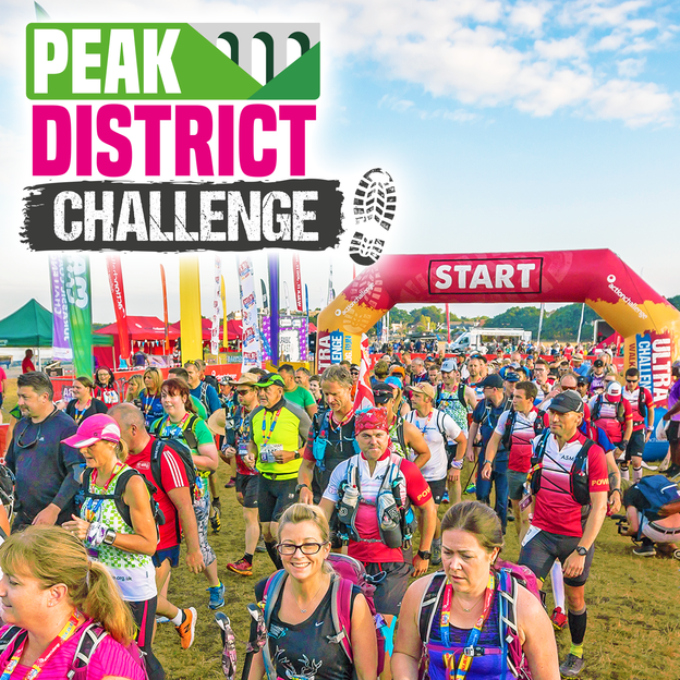 Fundraiers taking part in the Peak District Challenge