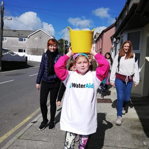 Betsy fundraising for WaterAid by doing a sponsored walk for water