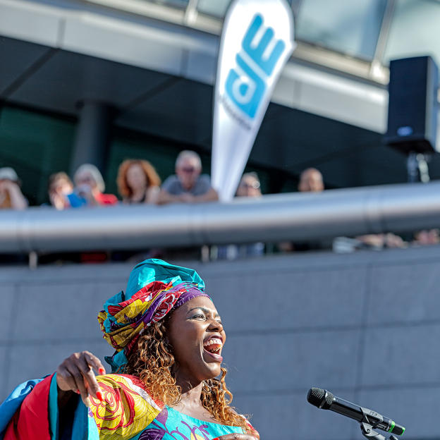 Sing For Water at the Scoop, in London,.