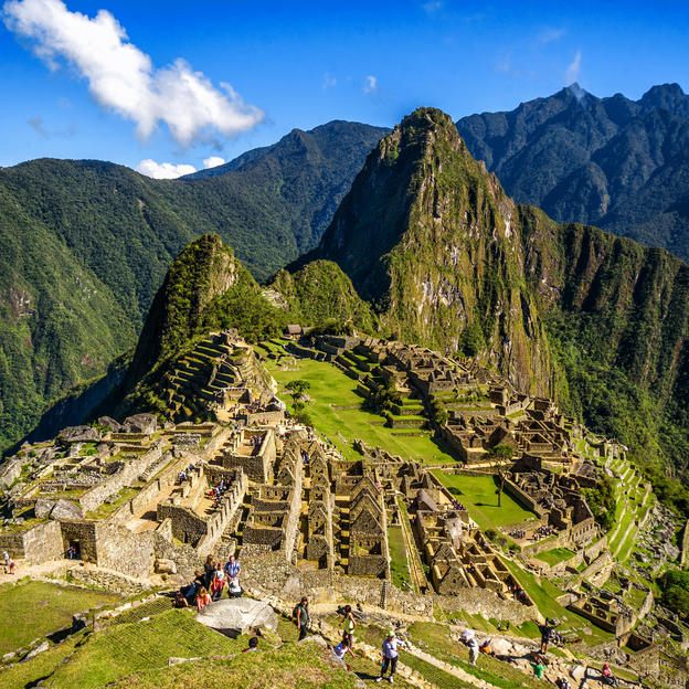 Stunning views on the route of the Machu Picchu trek