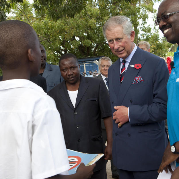 His Royal Highness Prince Charles visits our work in Tanzania.