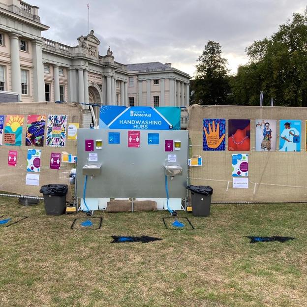 WaterAid's Handwashing Hub at the Greenwich Comedy Festival