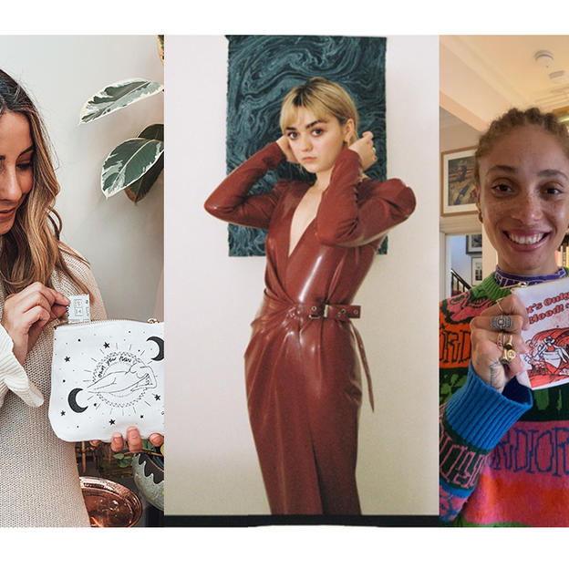 Zoe Sugg, Maisie Williams and Adwoa Aboah, who have all designed toiletry bags for Fempowered and WaterAid