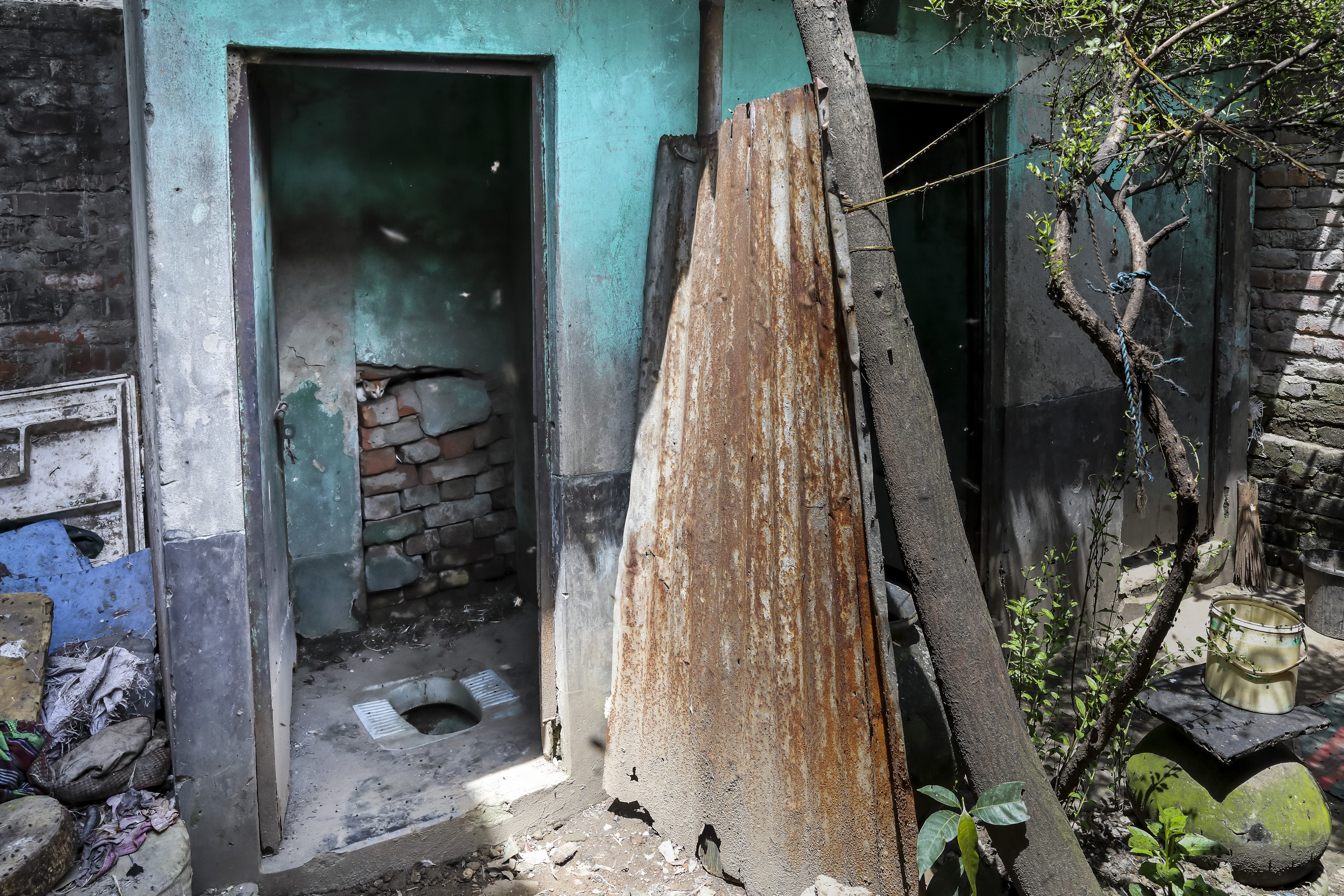 The toilet in the slum Sanjida and her family used to use