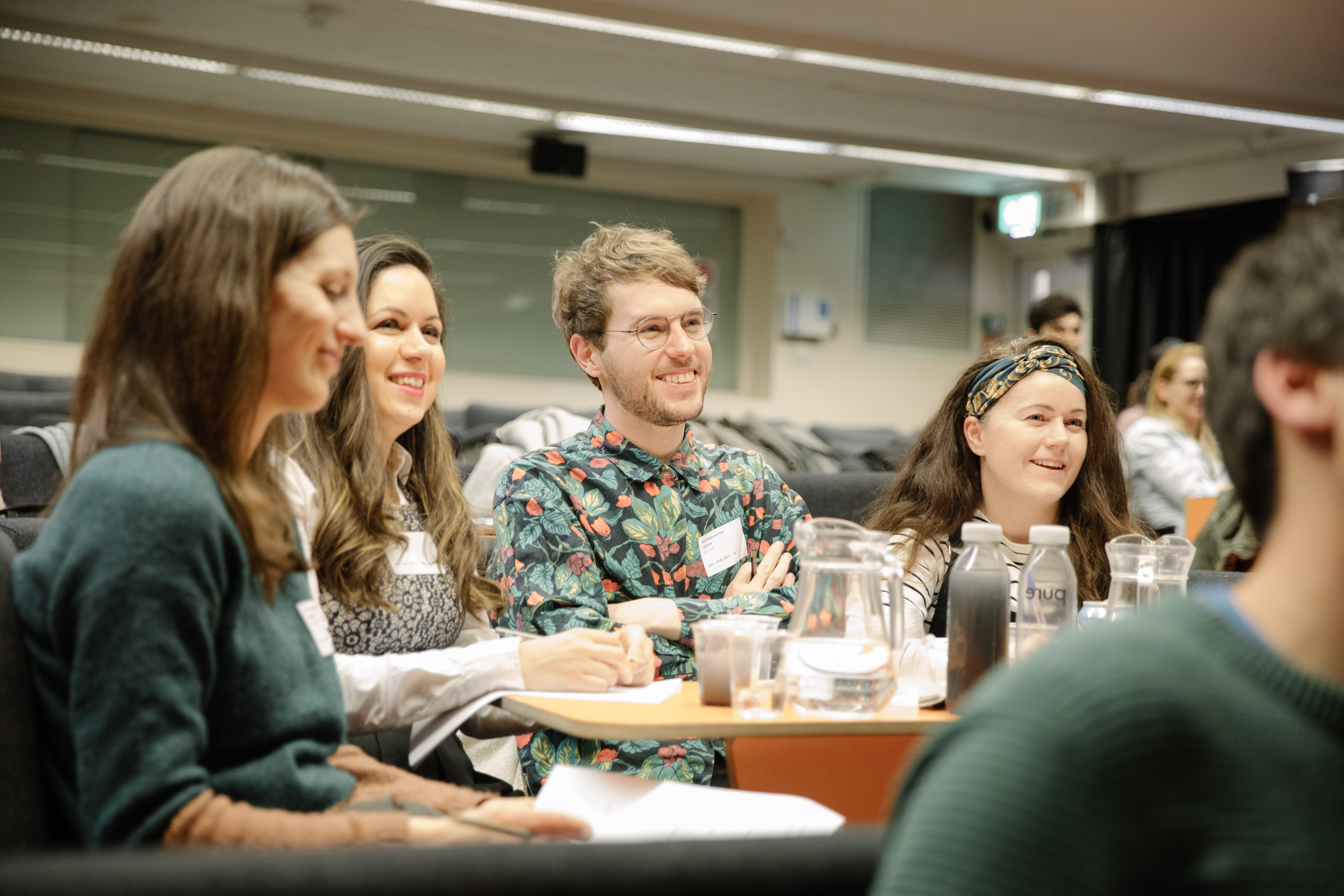 WaterAid staff on the judging panel of the hackathon with UAL students