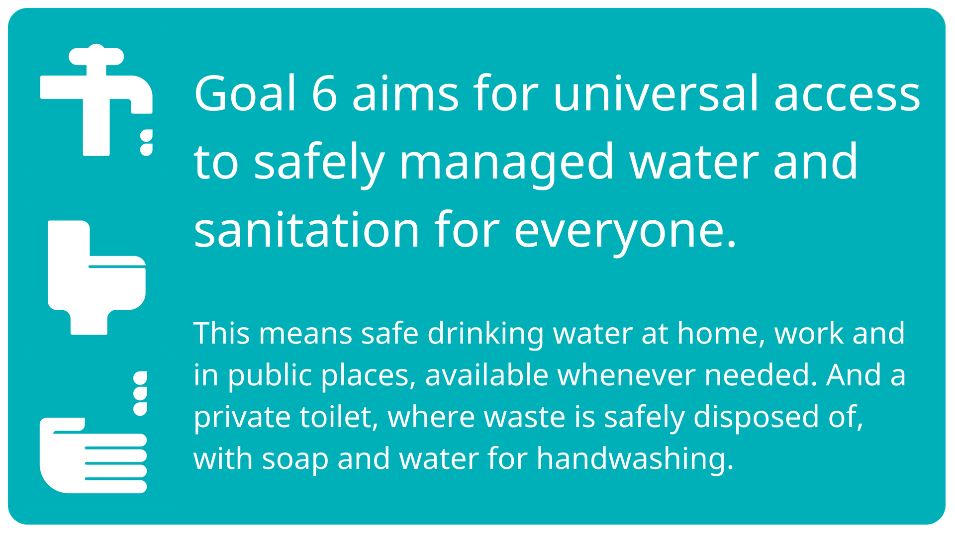 Goal 6 summary | WaterAid