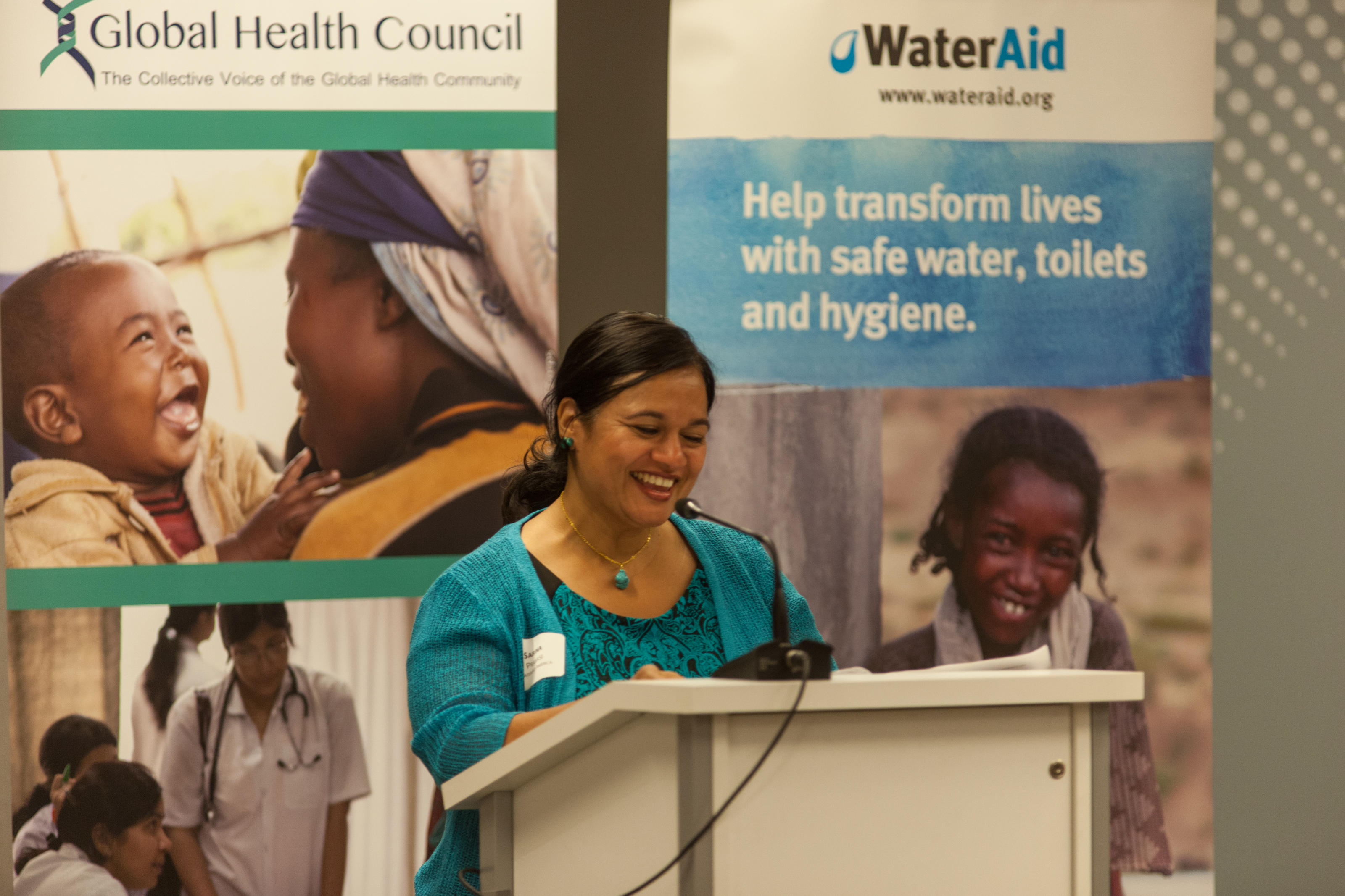 Ms Sarina Prabasi, WaterAid America's Chief Executive wraps up the event