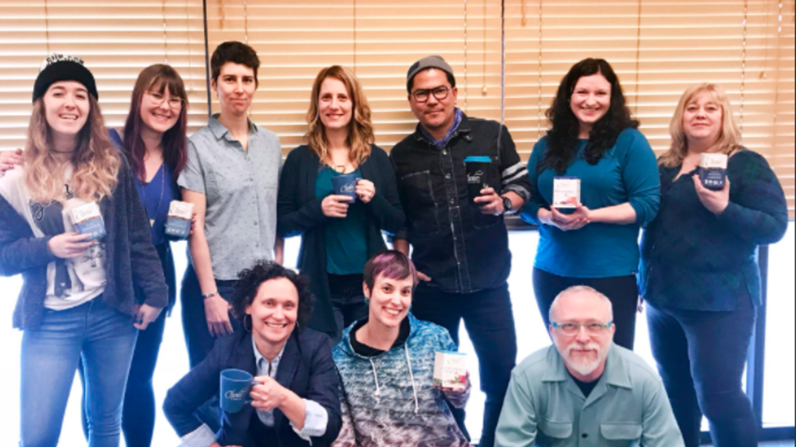 Choice Organic Teas employees participate in our annual #Blue4Water campaign to celebrate World Water Day.