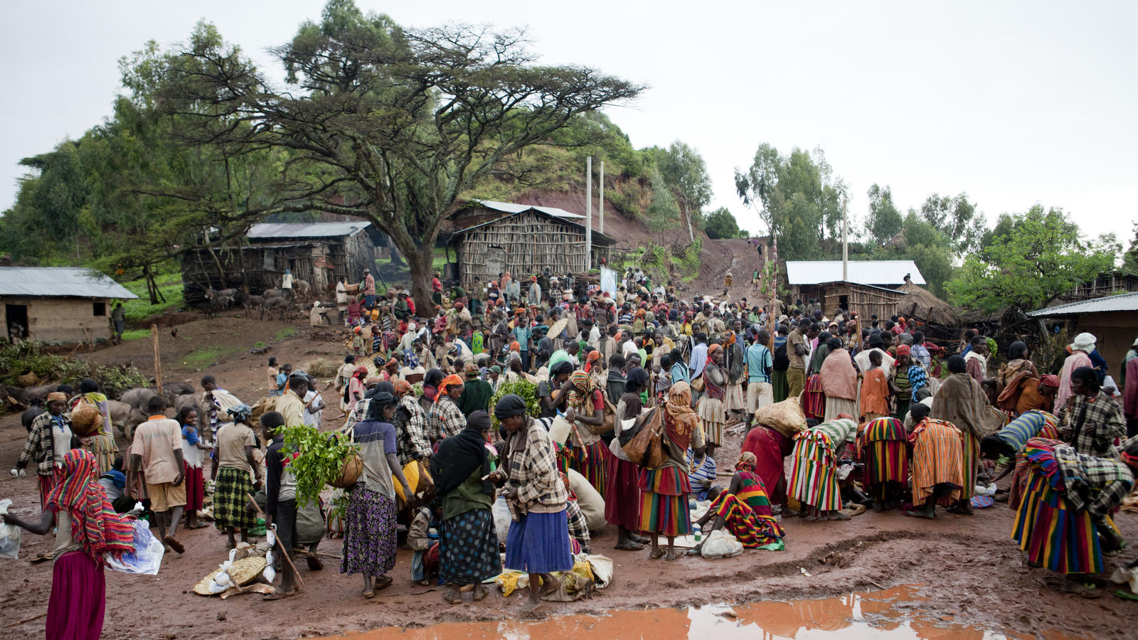 The local weekly market in Teshmale, Konso, Ethiopia ,2013.