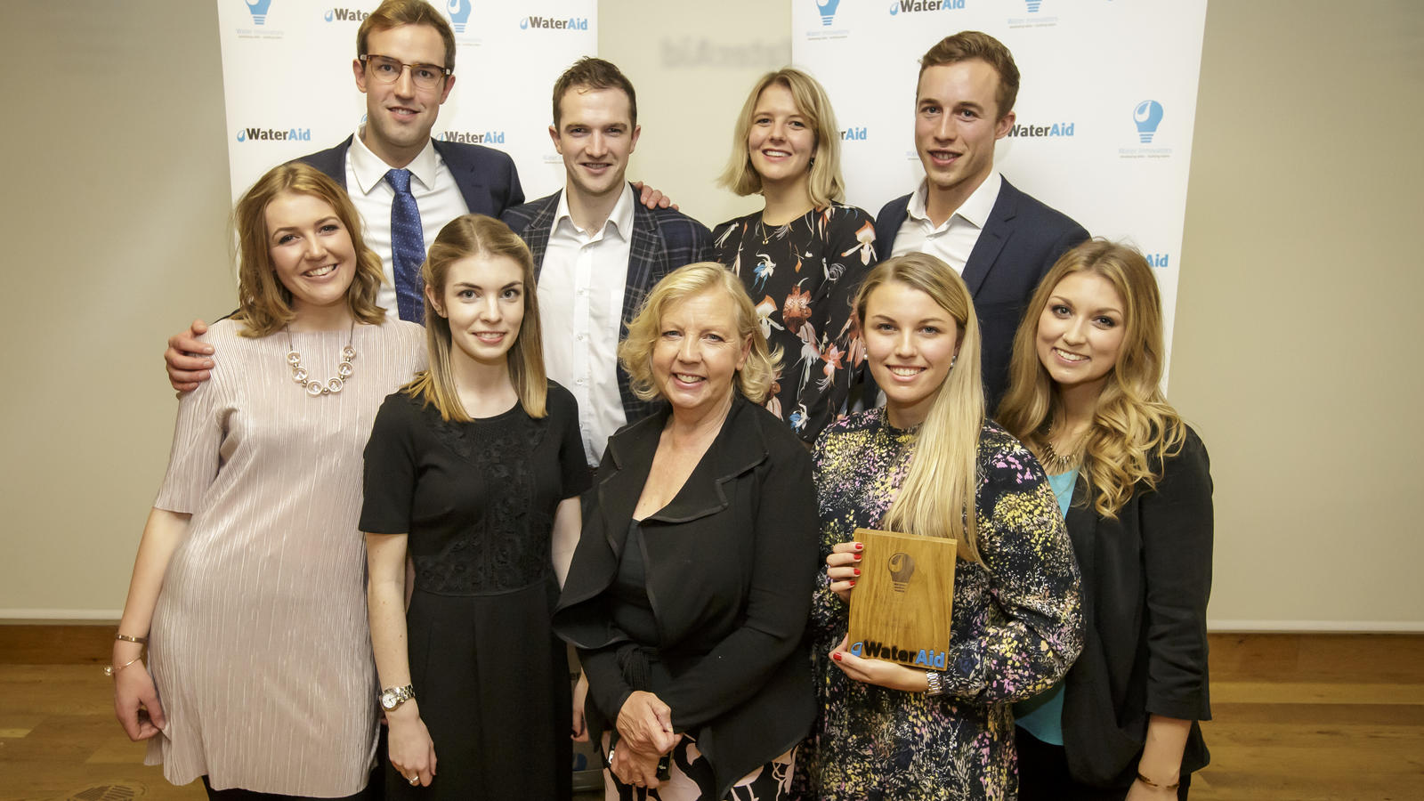 Deborah Meaden with winning Winnovators team 'Aspara' from Anglian Water.