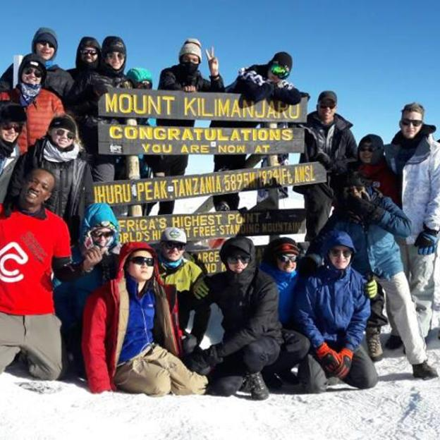 WaterAid supporters at the top on Mount Kilimanjaro