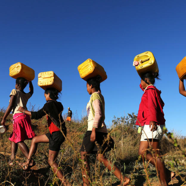 Girls walking for water | WaterAid