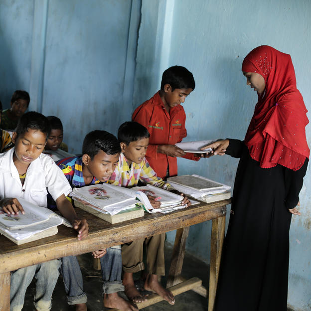 Children attend classes at the Gulni Tea Garden Primary School, Bangladesh