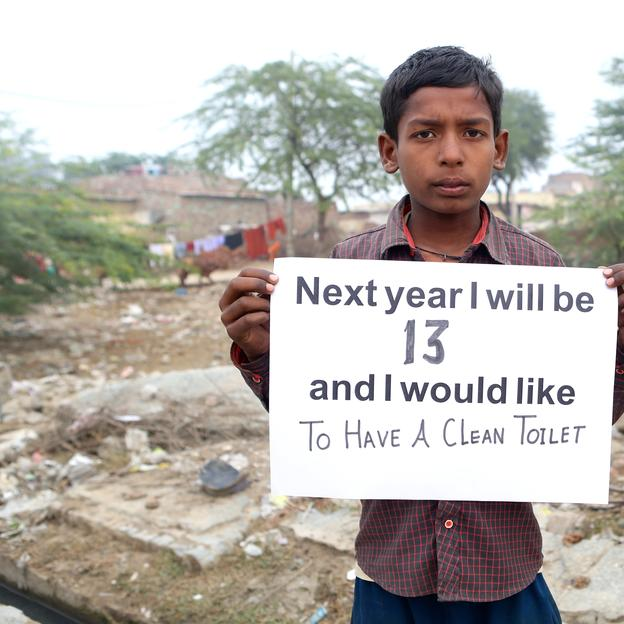 Manish, a child from community in Najafgarh, Delhi, India where WaterAid works with MRYDO (Local Partner). Action/2015