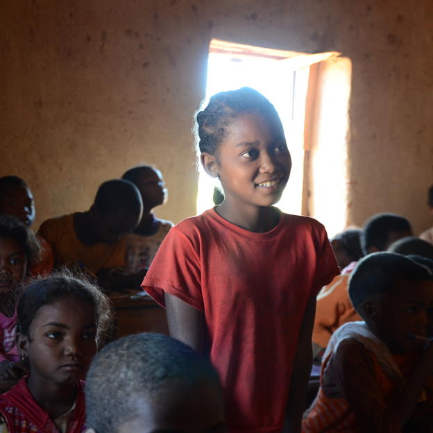 Ze returns to school in Madagascar
