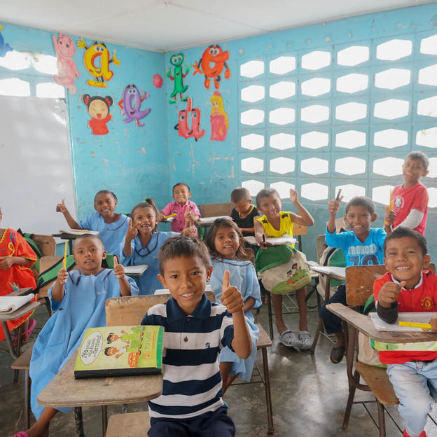 Students at the Totcomana School.