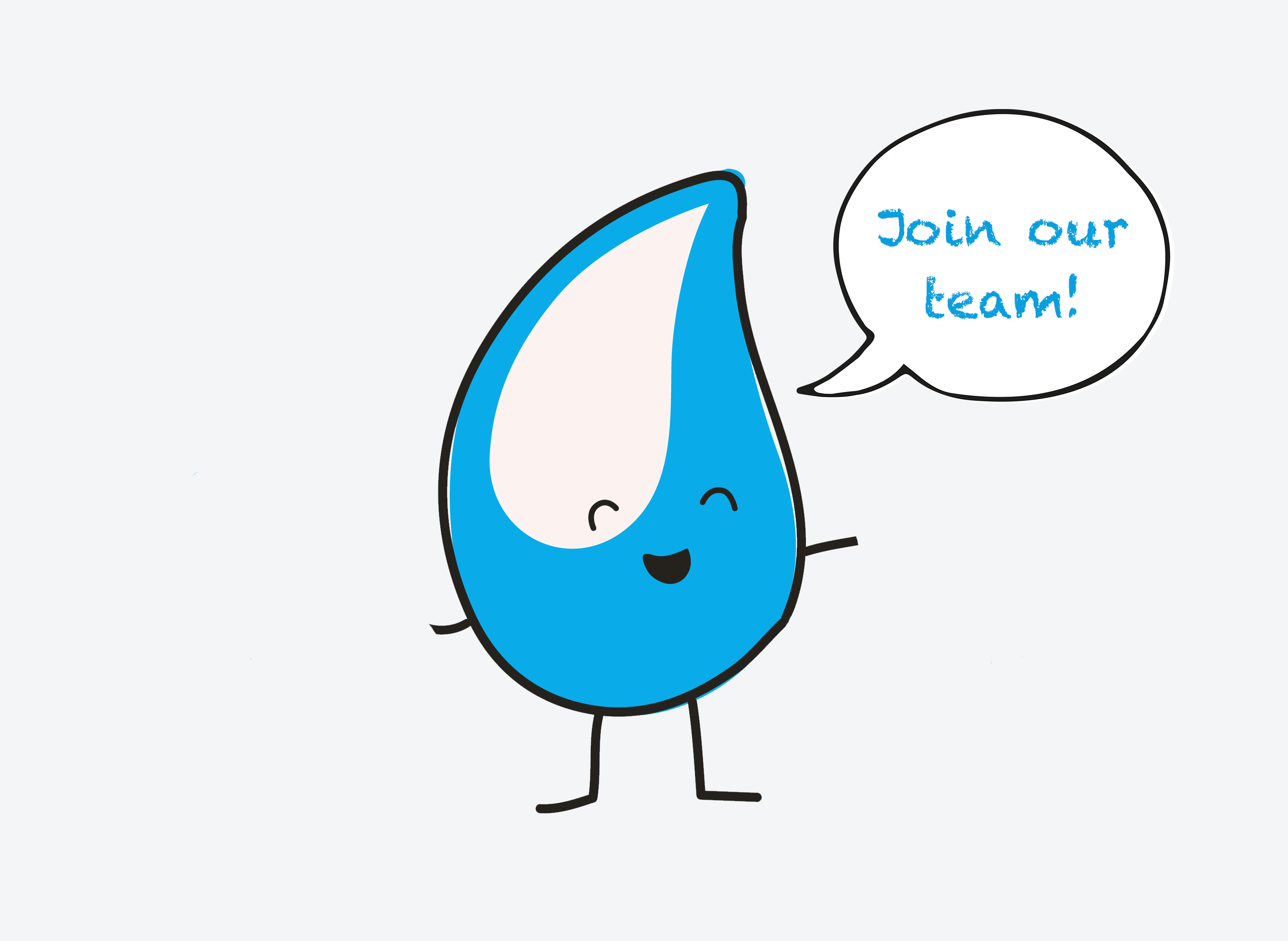 Walter the WaterAid drop - join our team